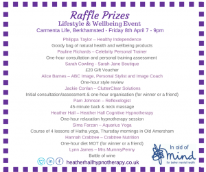 Raffle prizes event in Berkhamsted