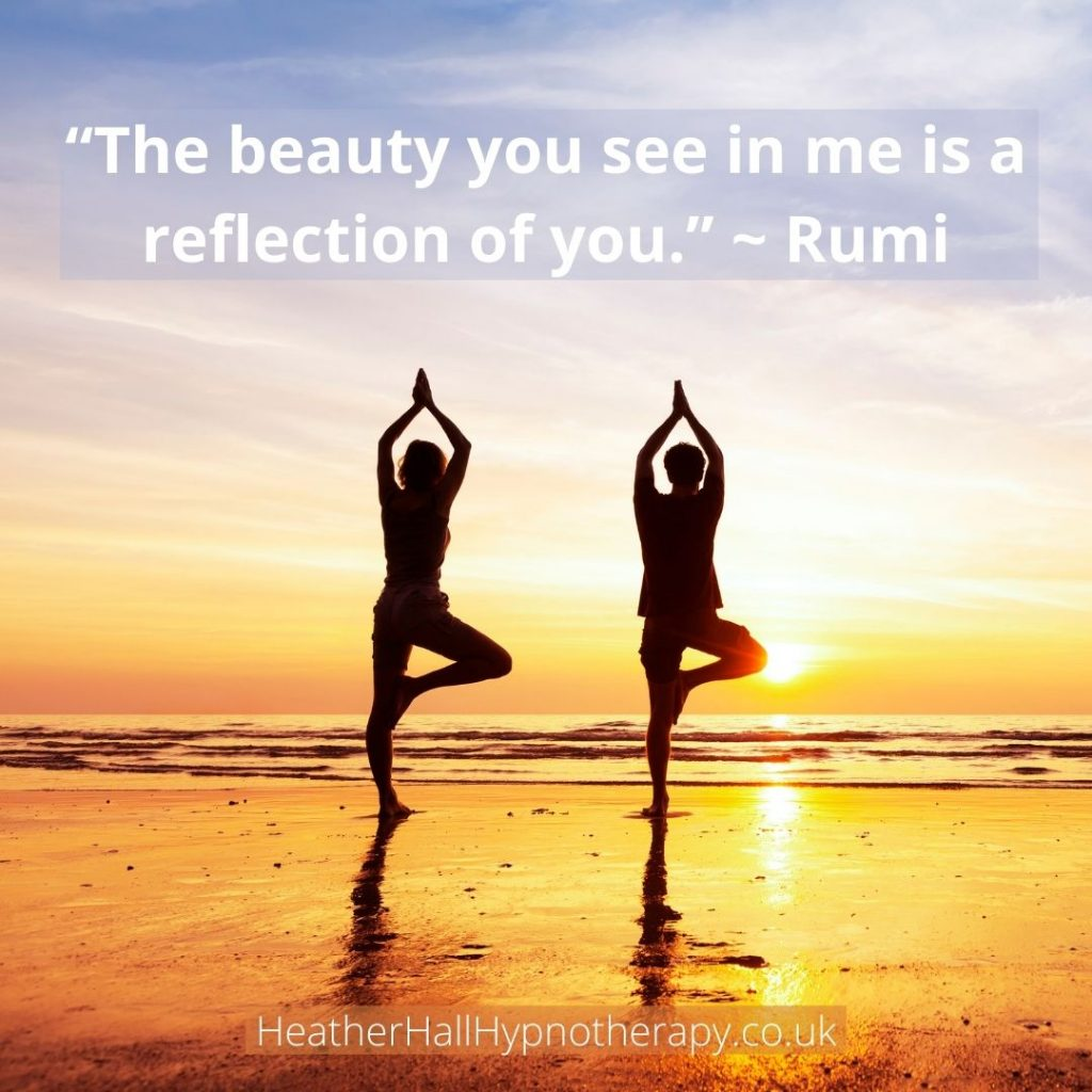 Self-Love Mirror Quotes The beauty you see in me is a reflection of you.